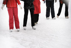 Young  people skating Royalty Free Stock Photography