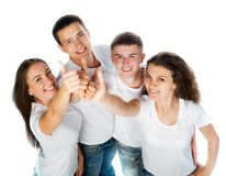 Young people smiling Royalty Free Stock Photos