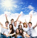 Young people smiling Stock Images