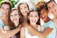 Young people smiling Royalty Free Stock Photography