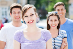 Young people smiling Royalty Free Stock Image