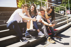 Young people and social media Stock Photos