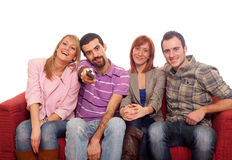 Young People on Sofa stock photography