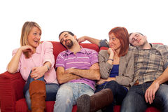 Young People on Sofa Royalty Free Stock Photo