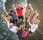 Young People Standing Near Sea Concept Stock Photos