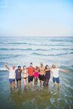 Young People Standing Near Sea Concept. Young People Standing Near Sea Royalty Free Stock Photo