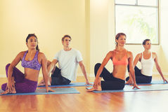Young People Stretching in Yoga Class Royalty Free Stock Photos