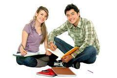 Young people studying Royalty Free Stock Photo