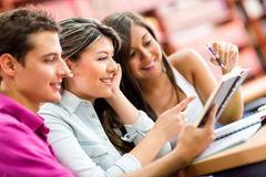 Young people studying Royalty Free Stock Photography