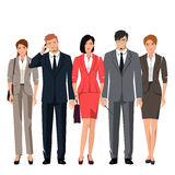 Young people in suits for office. Young active people in elegant suits for office. Vector set Royalty Free Stock Photography
