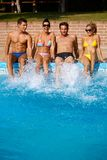 Young people on summer holiday Stock Image