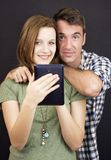 Young people with tablet Stock Photos