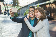 Young people taking selfie Royalty Free Stock Photography