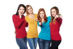 Young people with thumbs up Stock Photos