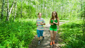 Young people to adopt healthy lifestyles stock video