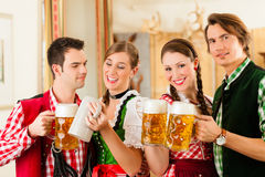 Young people in traditional Bavarian Tracht Royalty Free Stock Image