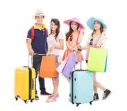 Young people travel worldwide and shopping Stock Photography