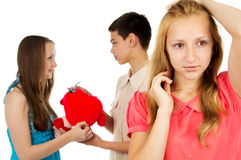 Young people, treason, betrayal Royalty Free Stock Images