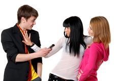 Young People Try To Meet Each Other Royalty Free Stock Photography