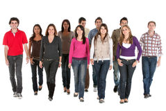 Young people walking Stock Image