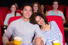 Young people watching a film Royalty Free Stock Photo