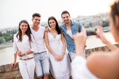 Young people on the waterfront Royalty Free Stock Image