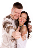 Young People With Their Thumbs Up Stock Photography