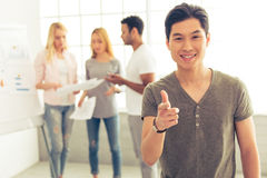 Young people working Stock Images
