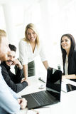 Young people working in office. Young people working in the office royalty free stock photography