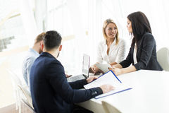 Young people working in office. Young people working in the office Royalty Free Stock Image