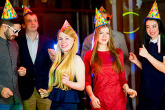 Young peoples birthday party Royalty Free Stock Photos