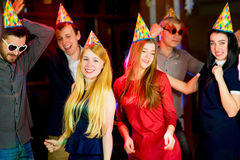 Young peoples birthday party Stock Images