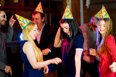 Young peoples birthday party Royalty Free Stock Photo