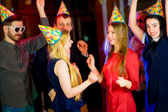 Young peoples birthday party Stock Photography