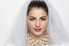 Young perfect bride Royalty Free Stock Image