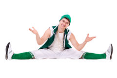 Young performer posing isolated on the white Stock Photography