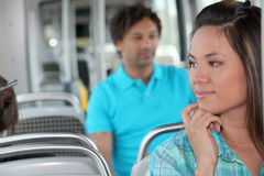 Young person on the bus Stock Image