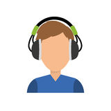 Young person with headphones Royalty Free Stock Photo
