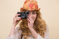 Young personal photographer Royalty Free Stock Photography