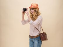 Young personal photographer Stock Images