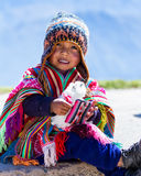 Young Peruvian boy Royalty Free Stock Photography