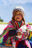 Young Peruvian boy Royalty Free Stock Images