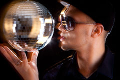 Young philippino man with disco bowl Stock Images
