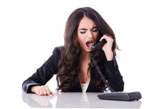 Young phone operator Stock Photography