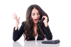 Young phone operator Royalty Free Stock Image