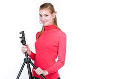 Young photo assistent Royalty Free Stock Images