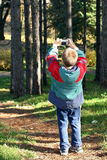 Young Photographer. This is a young nature photographer in action Royalty Free Stock Image