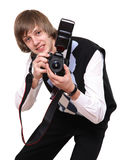 The young photographer Stock Photography