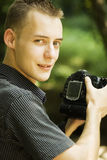 Young photographer stock photography