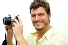 Young Photographer with camera Stock Photos